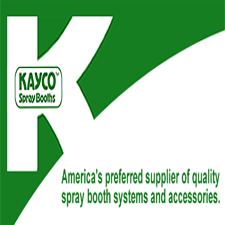 Kayco Spray Booths, Inc. in LaVernia, TX. Spray booths & spray booth accessories, including cross-drafts, side-drafts, down-drafts, filter booths, truck booths & mixing rooms for automotive & industrial applications.
