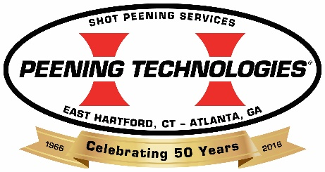 Peening Technologies Of GA Inc. in Austell, GA. Metal finishing, including magnetic particle & fluorescent penetrant inspection & shot & glass peening & vibratory finishing, including roto/flapper peening & on-site work.