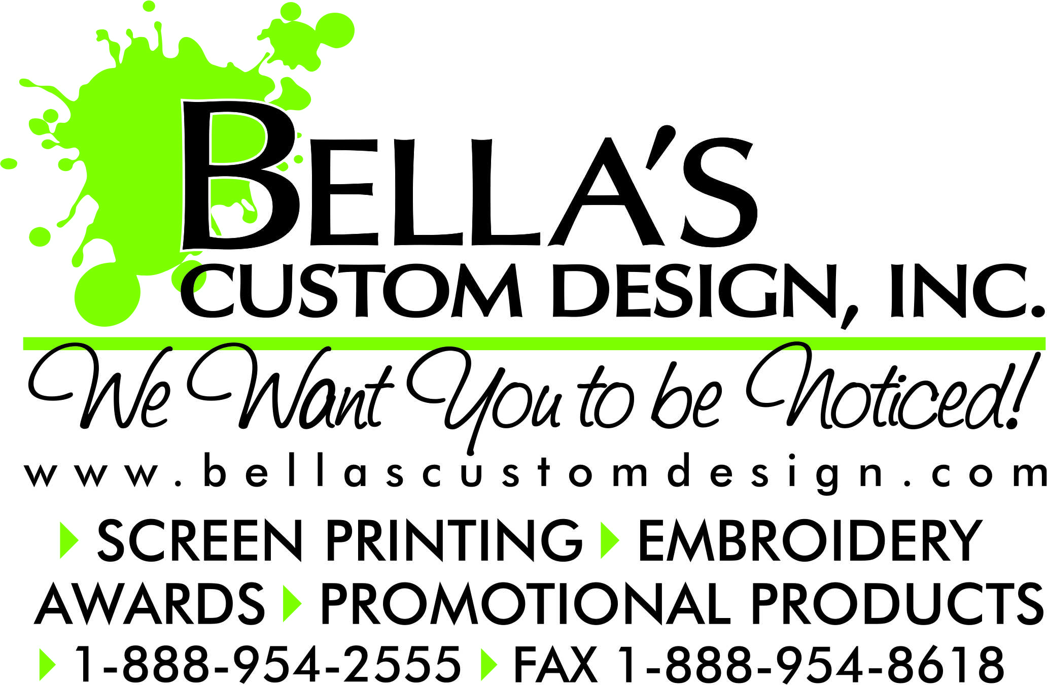 Bellas Custom Design Inc in Menasha, WI. Distributor of promotional products.